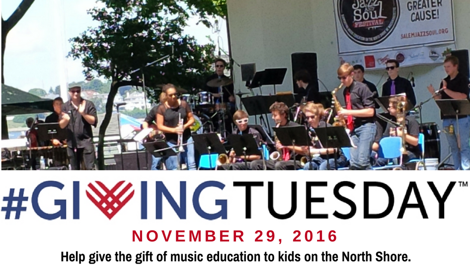 Help give the gidt of music - #GivingTuesday with Salem Jazz and Soul Festival